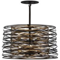 Minka Lavery Vortic Flow 6-Light Pendant Light in Dark Bronze