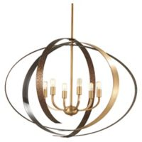 Minka Lavery Criterium 6-Light Pendant Light in Aged Brass