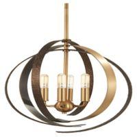 Minka Lavery Criterium 4-Light Pendant Light in Aged Brass
