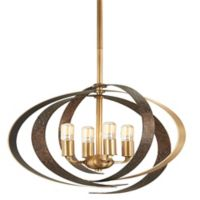 Minka-Lavery® Criterium 6-Light Ceiling-Mount Pendant in Aged Brass