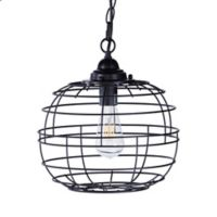 Southern Enterprises Ramsey 1-Light Pendant in Black