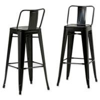 Simpli Home™ Stools in Black (Set of 2)