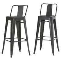 Simpli Home™ Barstools in Grey (Set of 2)