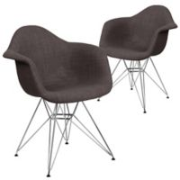 Flash Furniture Fabric Upholstered Accent Chairs in Gray (Set of 2)