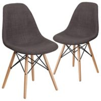 Flash Furniture Upholstered Accent Chairs in Gray (Set of 2)