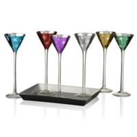 Artland® Stars 7-Piece Cone-Shaped Cordial Set with Tray