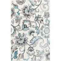 Home Dynamix Boho Floral 3'3 x 5'2 Area Rug in Ivory/Blue
