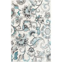 Home Dynamix Boho Floral 7'9 x 10'2 Area Rug in Ivory/Blue