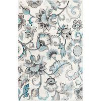 Home Dynamix Boho Floral 7'9 x 10'2 Area Rug in Ivory/Blue