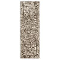 Loloi Rugs Viera 2'5 x 7'7 Power-Loomed Runner in Mocha/Ivory