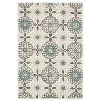 Loloi Rugs Francesca 3' Round Handcrafted Accent Rug in Ivory/Metal