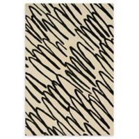 Loloi Rugs Nova 7'6 Square Hand-Tufted Area Rug in Ivory/Black