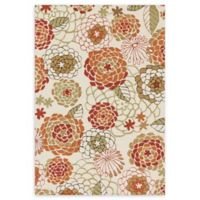 Loloi Rugs Francesca 5' x 7'6 Handcrafted Accent Rug in Ivory/Spice