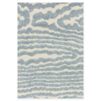 Loloi Rugs Enchant 3'10 x 5'7 Loomed Area Rug in Ivory/Light Blue
