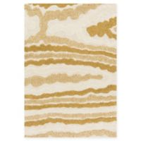 Loloi Rugs Enchant 7'7 x 10'6 Loomed Area Rug in Ivory/Gold
