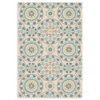 Loloi Rugs Francesca 3' Round Handcrafted Accent Rug in Ivory/Beige