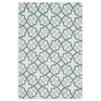 Loloi Rugs Francesca 2'3 x 3'9 Handcrafted Accent Rug in Ivory/Teal