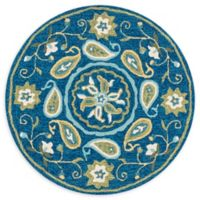 Loloi Rugs Francesca 3' Round Handcrafted Accent Rug in Blue/Green