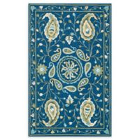 Loloi Rugs Francesca 5' x 7'6 Handcrafted Accent Rug in Blue/Green