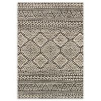 Loloi Rugs Emory 3'10 x 5'7 Loomed Area Rug in Graphite/Ivory
