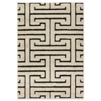 Loloi Rugs Enchant Shag 5'3 x 7'7 Area Rug in Ivory/Dark Brown