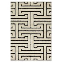 Loloi Rugs Enchant Shag 7'7 x 10'6 Area Rug in White/Black