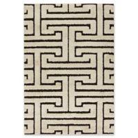 Loloi Rugs Enchant Shag 7'7 x 10'6 Area Rug in Ivory/Dark Brown