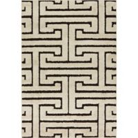 Loloi Rugs Enchant Shag 7'7 Square Area Rug in Ivory/Dark Brown