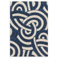 Loloi Rugs Enchantment 3'10 x 5'7 Area Rug in Navy/Ivory
