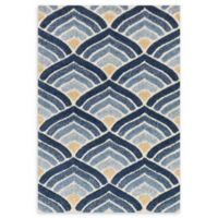 Loloi Rugs Enchant Abstract 7'7 Square Rug in Ivory/Blue