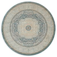 Loloi Rugs Century Medallion 7'7 Round Area Rug in Blue/Sand