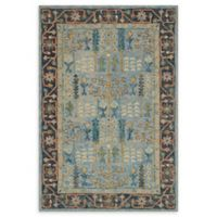 Loloi Rugs Victoria 2'3 x 3'9 Handcrafted Accent Rug in Light Blue/Dark Blue
