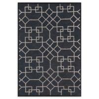 Loloi Rugs Panache Geometric 5' x 7'6 Area Rug in Charcoal/Silver