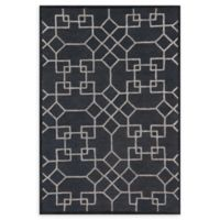 Loloi Rugs Panache Geometric 2'3 x 7'6 Runner in Charcoal/Silver