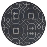 Loloi Rugs Panache Geometric 7'6 Round Rug in Charcoal/Silver