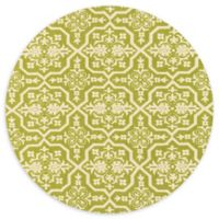 Loloi Rugs Venice Beach 7'10 Indoor/Outdoor Round Area Rug in Peridot/Ivory