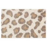 Loloi Rugs Kiara Leopard Shag 2'3 x 3'9 Accent Rug in Ivory/Taupe