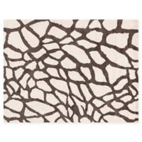 Loloi Rugs Kiara Giraffe Shag 5' x 7'6 Area Rug in Ivory/Brown