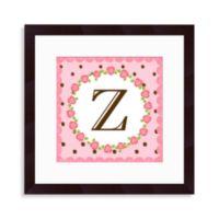 """Monogram Letter """"Z"""" Wall Art in Rose"""