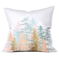 Deny Designs Iveta Abolina Blush Forest 26-Inch Square Throw Pillow in Pink