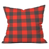 Deny Designs Zoe Wodarz Winter Cabin Plaid 26-Inch Square Throw Pillow in Red