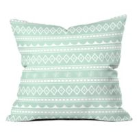 Deny Designs Craftbelly Retro Holiday Square Throw Pillow in Green