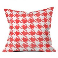 Deny Designs Social Proper Candy Houndstooth 18-Inch Square Throw Pillow in Red