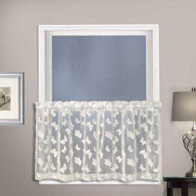Madame 24 Inch Kitchen Window Curtain Tier Pair In Natural