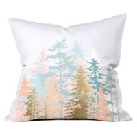 Deny Designs Iveta Abolina Blush Forest 16-Inch Sqaure Throw Pillow in Pink