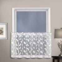 Madame 24-Inch Kitchen Window Curtain Tier Pair in White