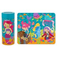 Stephen Joseph Mermaid Tin Bank with Puzzle in Blue