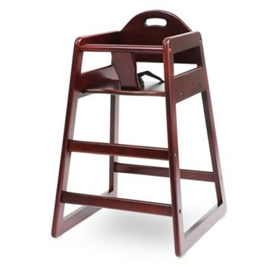 High Chairs U003e LA Baby® Solid Wood High Chair In Cherry