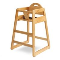 LA Baby® Solid Wood High Chair in Natural