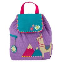 Stephen Joseph® Llama Quilted Backpack in Purple